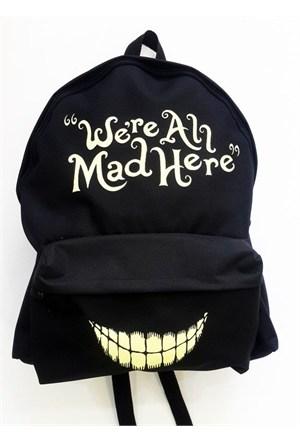 Köstebek Alice In Onderland - Ere All Mad Here Sırt Çantası Kbsç019