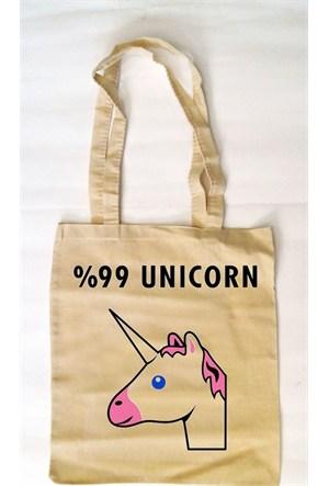Köstebek %99 Unicorn Bez Çanta Kbz071