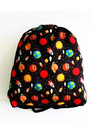 Köstebek Renkli Gezegenler Bez Sırt Çantası Kbz077