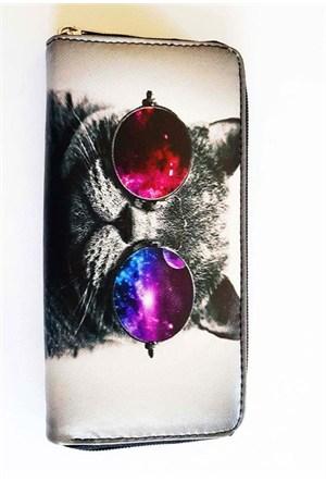 Köstebek Galaxy Cat Uzun Cüzdan Kuc163