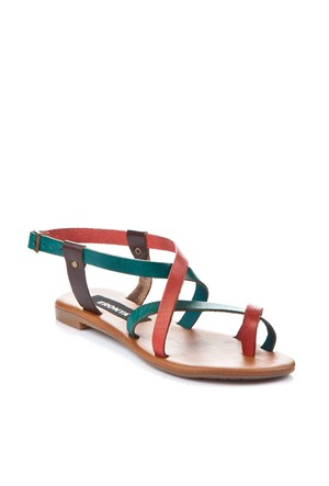 Gio&Mi Renkli Sandalet V12-834