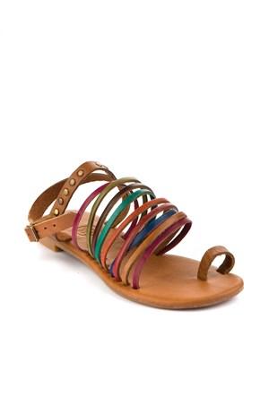 Gio&Mi Renkli Sandalet Z28kdm