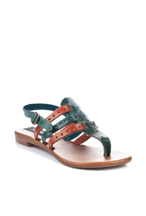 Gio&Mi Renkli Sandalet V18-45
