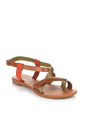 Gio&Mi Renkli Sandalet V4-625