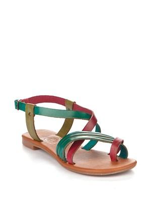 Gio&Mi Renkli Sandalet V4-864