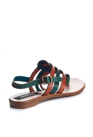 Gio&Mi Kahverengi - Yeşil Sandalet V21