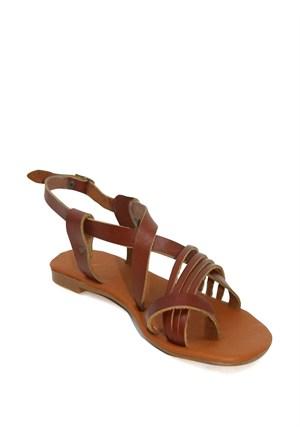 Gio&Mi Kahverengi Sandalet V4-3