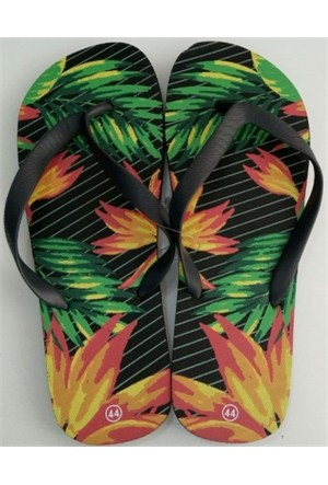 Hobi Store Palmiye1 Desenli Renkli Erkek Parmak Arası Terlik