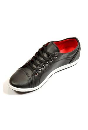Avangard Bağcıklı Siyah Ayakkabı