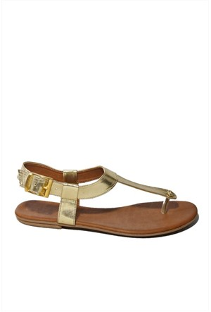 İnce Topuk Kadın Sandalet Dore