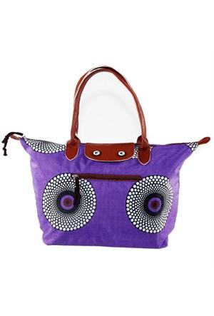 Bigg Fashion Mor Desenli Katlanabilir Çanta