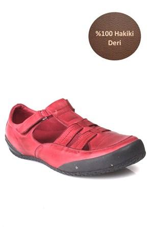 Loggalin Kadın Günlük Ayakkabı Bordo
