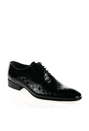 Derigo Erkek Klasik Ayakkabı Siyah Rugan