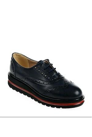 Derigo Kadın Günlük Ayakkabı Lacivert Çift Yüz