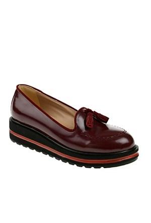 Derigo Kadın Günlük Ayakkabı Bordo Rugan
