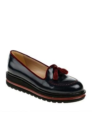 Derigo Kadın Günlük Ayakkabı Lacivert Rugan