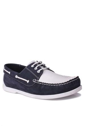 Kalahari Erkek Klasik Ayakkabı Lacivert Beyaz