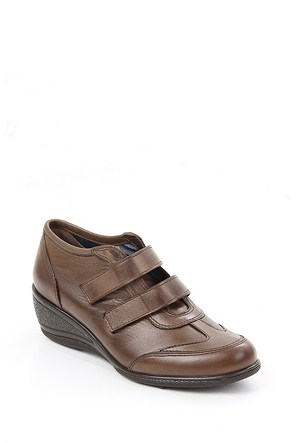Gön Vizon Antik Deri Kadın Ayakkabı 20018
