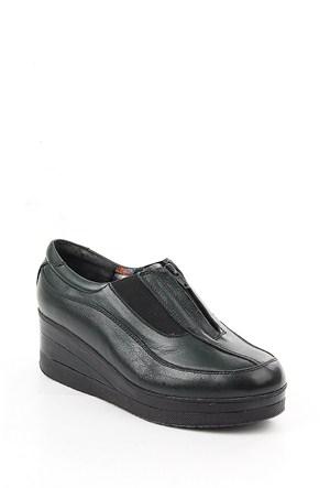 Gön Haki Antik Deri Kadın Ayakkabı 21232