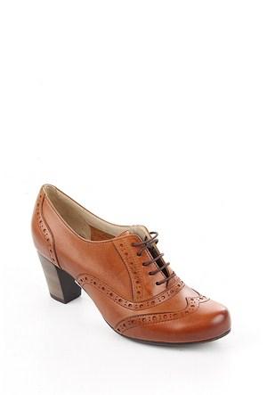 Gön Taba Antik Deri Kadın Ayakkabı 22316