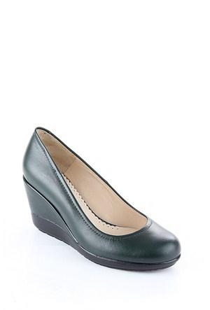 Gön Haki Antik Deri Kadın Ayakkabı 22373
