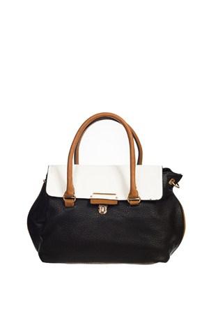 Gnc Bag Kadın Çanta Siyah Beyaz Gnc0104-0001
