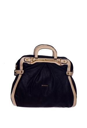 Sılver Polo Kadın Çanta Siyah Bej Sp450