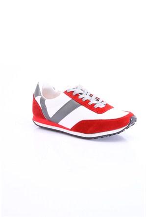 Versace 19.69 Abbigliamento Sportivo SRL Kadın Günlük Ayakkabı Kırmızı Beyaz Gri