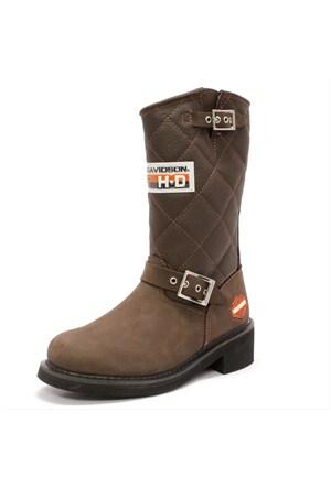 Harley Davidson Laconia 644 Kadın Kahverengi Çizme (025G0071-B23)