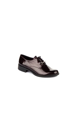 Elle Kadın Ayakkabı Sedef Bordo Rugan 15Kz26117