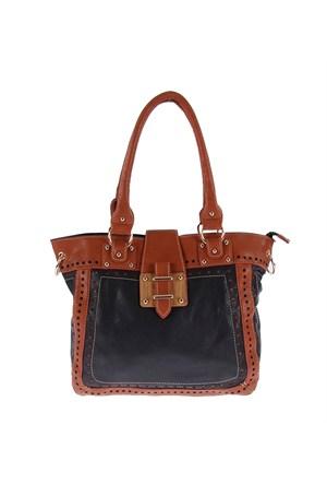 Luısıdo Kc7556 Brown-Black Bayan Çanta