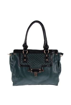 Luısıdo Kc8155 Green-Black Bayan Çanta