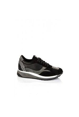 Elle 15Kikt-551 Bayan Ayakkabı - Siyah Su-Yılan-Siyah