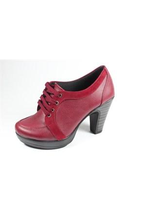Capriss St11-11-001 Bordo Topuklu Ayakkabı