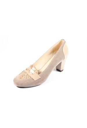 Capriss St11-11-463 Vizon Süet Topuklu Ayakkabı