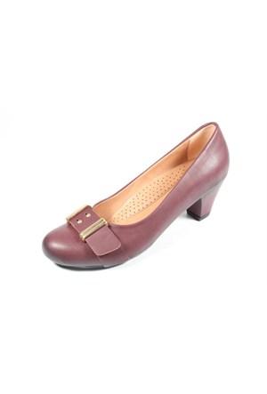 Capriss St11-11-481 Bordo Topuklu Ayakkabı