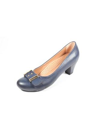 Capriss St11-11-481 Lacivert Topuklu Ayakkabı