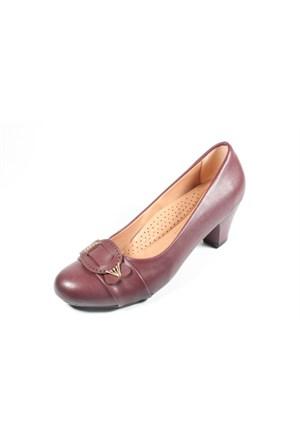 Capriss St11-11-483 Bordo Topuklu Ayakkabı