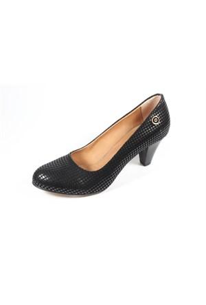 Ella 255-91 Siyah Kadın Topuklu Ayakkabı