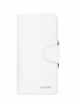 Cengiz Pakel Bayan Cüzdan Beyaz 65190
