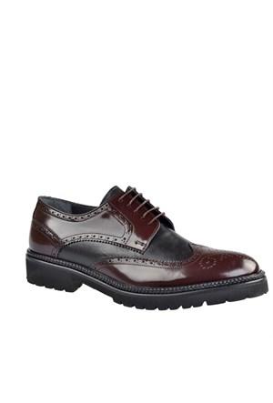 Cabani Oxford Günlük Erkek Ayakkabı Bordo Açma Deri