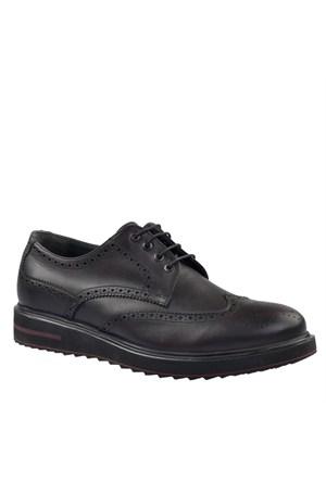 Cabani Oxford Günlük Erkek Ayakkabı Bordo Deri