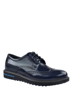 Oxford Günlük Erkek Ayakkabı Lacivert Rugan Cabani