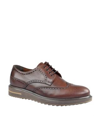 Cabani Oxford Günlük Erkek Ayakkabı Kahve Sanetta Deri