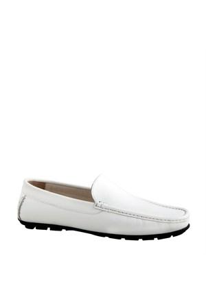 Crunell Makosen Günlük Erkek Ayakkabı Beyaz Soft Deri