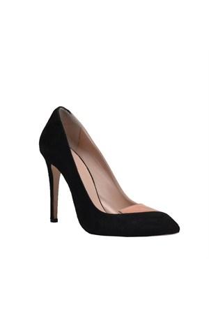 Cabani Topuklu Günlük Kadın Ayakkabı Pembe Süet
