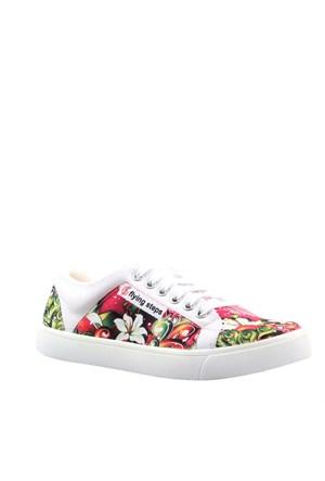 Cabani Bağcıklı Sneaker Kadın Ayakkabı Beyaz Deri