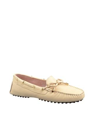 Cabani Makosen Günlük Kadın Ayakkabı Bej Deri