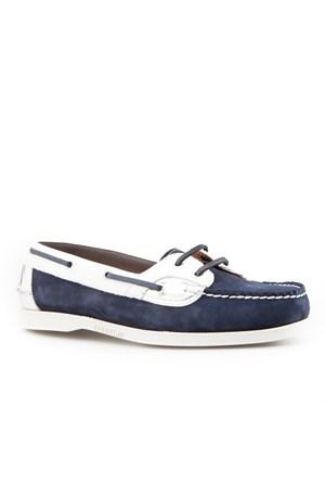 Cabani Marin Tekne Günlük Kadın Ayakkabı Lacivert Süet