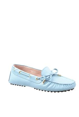 Cabani Makosen Günlük Kadın Ayakkabı Mavi Deri